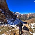Sentinel Pass (2.611m), Blick auf das Paradise Valley