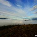 Nebeldecke über Dawson City