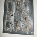 acrylique, sculpture sur toile 50x60 cm