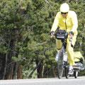 Hier sind einige Radfahrer unterwegs