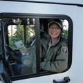 Rangerin Nancy betreut den Campingplatz