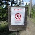 Kein Zutritt zum Bärengebiet