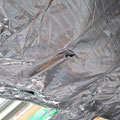 Potential leakages at the SuperQuilt insulation, caused by fixing and taping