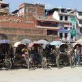 Fahrrad Riksha warten auf Kundschaft