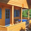 Überdachte Veranda - Ferienhaus