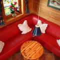 Kuschelecke im Wohnzimmer