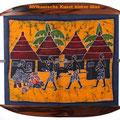 afrikanische kunst, bild hinter glas