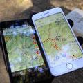 スマホアプリで位置情報が1㎝の誤差で確認できる
