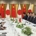 日中首脳会合 習近平主席と安倍首相 サミット前日