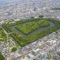 上空から見た仁徳天皇陵
