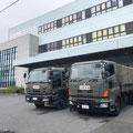 マジックファイバーが緊急物資として自衛隊車両が埼玉工場へ
