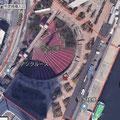 Googleマップの航空写真 竹芝桟橋全景
