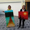 Diese zwei Bilder wechselten am Sonntag den Besitzer.  -   (c) Atelier Anne Sänger