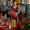Mein Stand beim weihnachtlichen Kunstmarkt 2017   -   (c) Atelier Anne Sänger