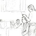 九電側の証人を鋭く追求する武村弁護士