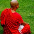 Pilger am meditieren