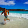 Cape le Grand, Roy freut sich ab dem kalten Wasser