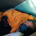 Kevin in unserem Bett im Gandi