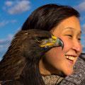 ..wunderschöner Adler mit Kirgisin