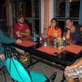 gemütliches dinieren mit den Indern und Franzosen