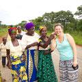 die Frauen in Zambia sind sehr offen und witzig
