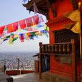 Aussicht vom Tempel auf Kathmandu