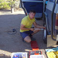 Platten im Outback