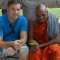 heiliges Blatt vom Buddha-Baum als Geschenk vom Lehrmeister