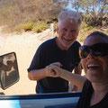 neue, nette Bekanntschaft mit Ernesto, einem Globetrotter. In den 70er Jahre trottete er per Autostopp um den Globus und blieb in Australien hängen.