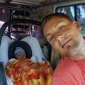 erste Fahrt für Kevin im Gandi