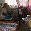 unser Schlafzimmer, nur mit mehreren Fan aushaltbar zum schlafen