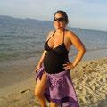 Letzter Spaziergang am Strand vor der Geburt
