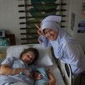 meine Lieblings-Schwester war auch bei der Geburt dabei