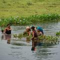 ....soll auch Krokodile haben in diesem Fluss