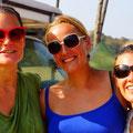 Kathy, Ilse und Nicky- die Overlanderladys