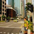 wo ist denn der Verkehr? Die Strassen sind wie leer gefegt im Vergleich zu Indien..