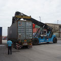 Unser Container wird platziert