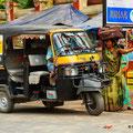 Tuktuk, als beliebtes Transportmittel