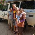 Kurz vor Abreise von Koh Samui mit unseren house keepers Kit & Pet