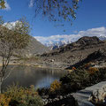 Aussicht vom Hotel auf den Borith Lake