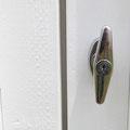 Integrated door handle / lock is include