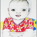 Das Baby im Hochstuhl /Nicht perfekt, aber mit Ausstrahlung /Gemeint ist das Bild.