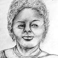 Farbige Frau / Entwurf für ein Acrylbild