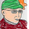 Ein kleiner Test mit dem Paint Programm um zu sehen, wie das Portrait farbig wirkt