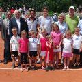 Gruppenbild Siegerehrung mit Turnierkinder