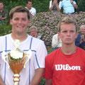 Turniersieger Christian Grünes (l.) und Finalist Marc Weigel