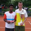 Finalist Vijay Sundar Prashanth und Turniersieger Steffen Dierauf