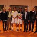 Siegerehrung (v.l.) Erwin Prltzl, Gudrun Peinze-Keller, Hans Straubinger, Alexander Satschko, Marc Sieber, Karl Obermeier, Manfred Mayer, Dr.Christian Reischl