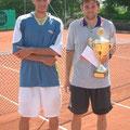 Finalist Philipp Marx (l.) und Turniersieger Sascha Hesse