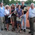 Mixed 2012: (v.l.) Sportwart Arno Baumgartner, Petra Hallhuber (2.), Marion Wollner (3.), Bernd Straubinger (2.), Ulrike Sager (1.), Heiner Ruhland (1.) und TCA-Vorstand Hans Straubinger. Es fehlt Franz Moosbauer (3.)